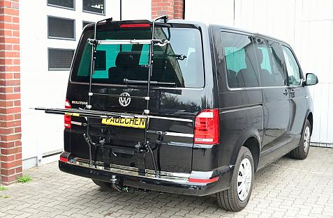 Volkswagen Bus T6 Bike carrier in loading position