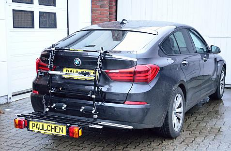 Tieflader 5er Gran Tourismo (F07) Bike carrier with comfort load expansion in loading position. Without trailer hitch!