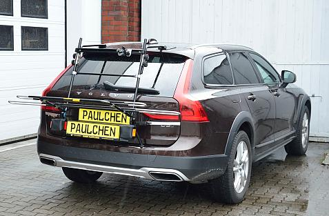 Volvo V90 Bike carrier in loading position