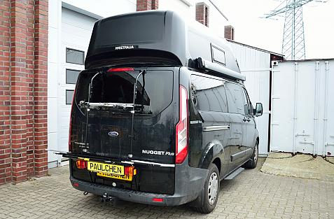 Ford Tourneo Custom Bike carrier in loading position