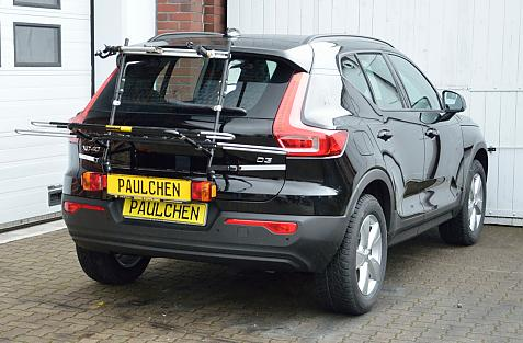 Volvo XC40 (536) Bike carrier with light bar in loading position