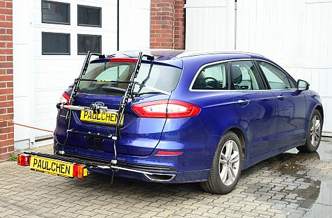 Ford Mondeo Turnier Bike carrier with comfort load expansion in loading position. Without trailer hitch!