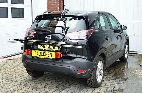 Tieflader Crossland X (P17) Bike carrier with light bar in loading position