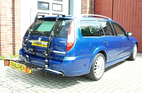 Ford Mondeo Turnier Bike carrier with comfort load extension in loading position. Without trailer hitch!
