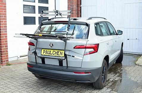 Skoda Karoq Bike carrier in loading position