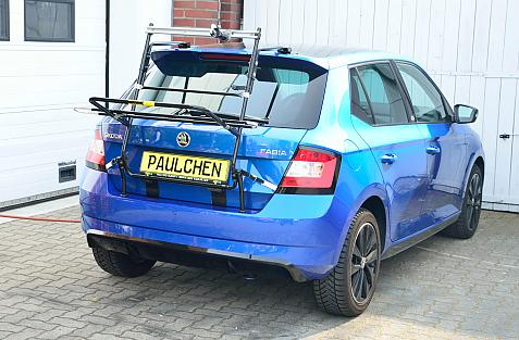 Skoda Fabia III m. Spoiler (NJ3) Bike carrier in loading position