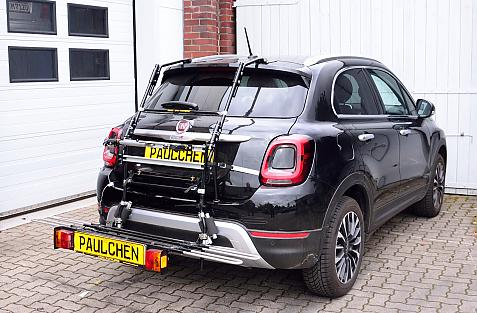 Fiat 500 X Bike carrier with comfort load expansion in loading position. Without trailer hitch!