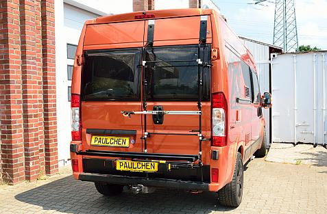 Fiat Ducato Bike carrier in loading position