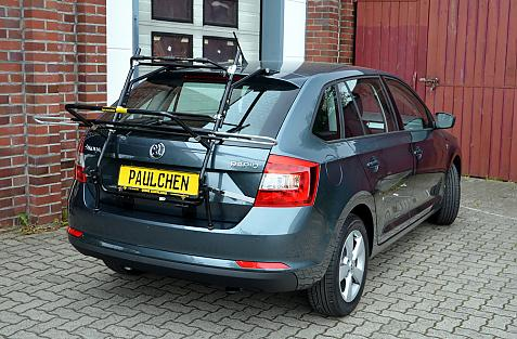 Skoda Rapid Spaceback (NH1) Bike carrier in loading position