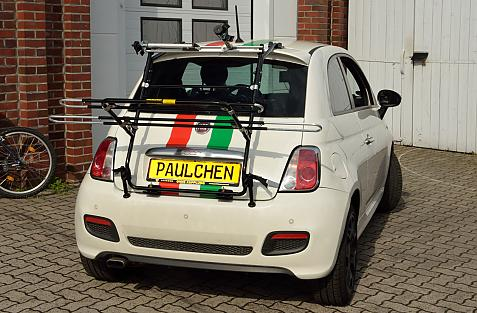Fiat 500 (312) Bike carrier in loading position