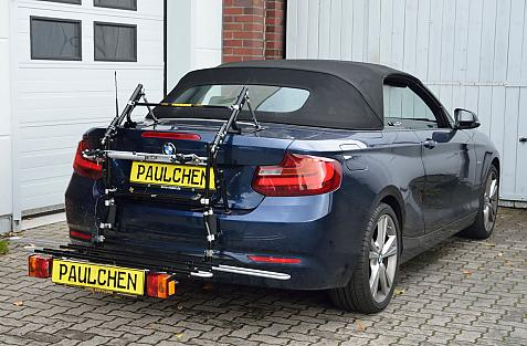 BMW 2er Cabrio (F23) Bike carrier with comfort load expansion in loading position. Without trailer hitch!