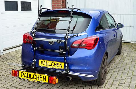 Opel Corsa E,  3-türig, OPC Bike carrier with comfort load expansion in loading position. Without trailer hitch!
