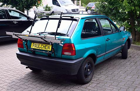 Volkswagen Polo Coupé (86C) Bike carrier in loading position