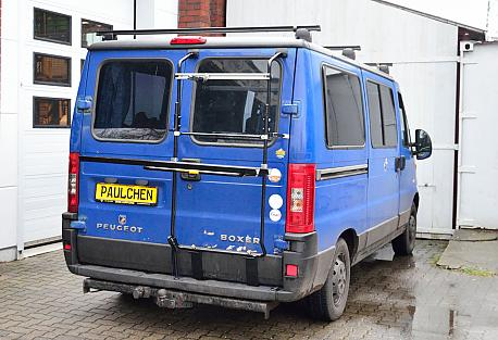 Fiat Ducato Facelift Bike carrier in loading position