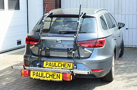 Seat Leon ST Facelift Bike carrier with comfort load expansion in loading position. Without trailer hitch!