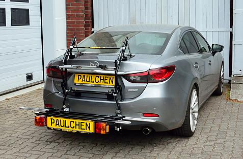 Mazda 6 Stufenheck (GL) Bike carrier with comfort load expansion in loading position. Without trailer hitch!