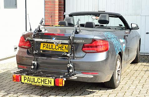 BMW 2er Cabrio Facelift (F23) Bike carrier with comfort load expansion in loading position. Without trailer hitch!