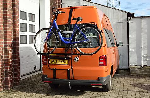 Volkswagen Bus T5 / T6 Bike carrier loaded with bike