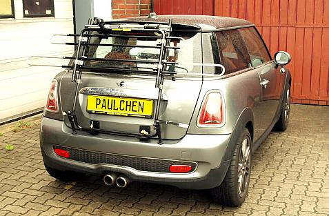 Mini Mini Cooper S Bike carrier in standby position