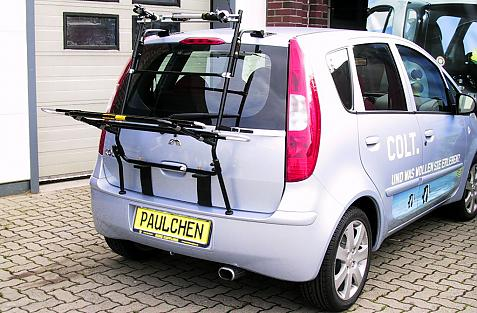 Mitsubishi Colt Bike carrier in loading position