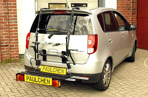 Mitsubishi Colt Facelift Bike carrier with comfort load extension in loading position. Without trailer hitch!