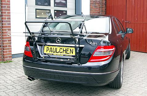 Mercedes C-Klasse (W204) Bike carrier in loading position