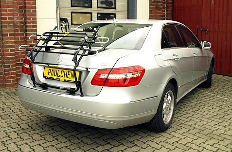 Mercedes E-Klasse (W212) Bike carrier in standby position