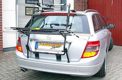 Mercedes C-Klasse 'T-Modell' (S204) Bike carrier in loading position