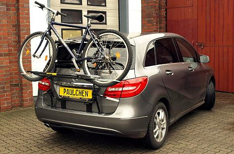 Mercedes B-Klasse (W246) Bike carrier loaded with bike