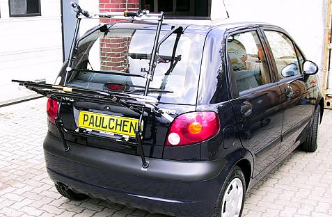 Daewoo Matiz Bike carrier in loading position