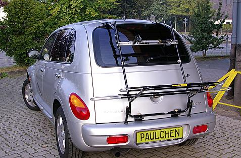 Chrysler PT Cruiser Bike carrier in loading position