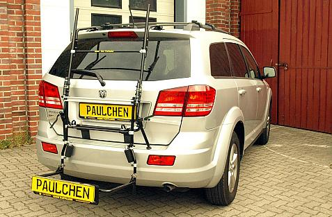 Dodge Journey Bike carrier with comfort load extension in loading position. Without trailer hitch!