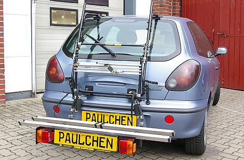 Fiat Bravo Bike carrier with comfort load extension in loading position. Without trailer hitch!