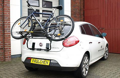 Fiat Bravo Bike carrier loaded with bike